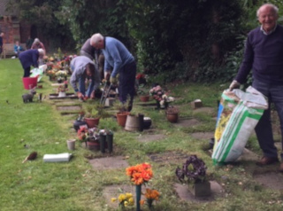 Working party at the Cemetery